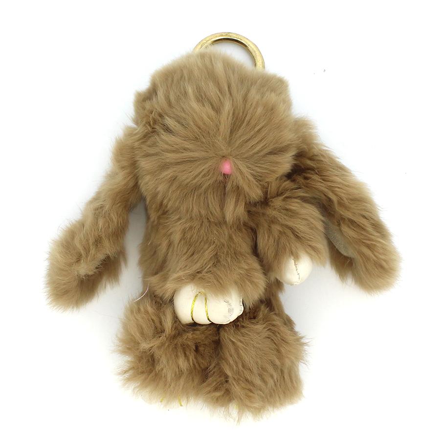 03 brelok królik ciemny beż